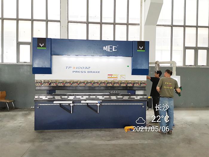 安徽长沙100/3200数控折弯机厨具行业应用案例